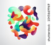 abstract fluid colorful bubbles ...   Shutterstock .eps vector #1045669969