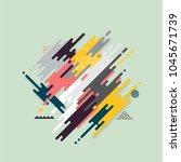 abstract line geometric vector... | Shutterstock .eps vector #1045671739