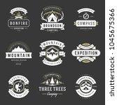 camping logos templates vector... | Shutterstock .eps vector #1045675366
