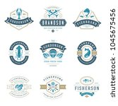 seafood logos or signs set... | Shutterstock .eps vector #1045675456