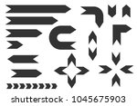 black simple arrows. vector... | Shutterstock .eps vector #1045675903