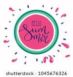 hello summer letting...   Shutterstock .eps vector #1045676326