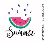 summer letting handwriting... | Shutterstock .eps vector #1045680196