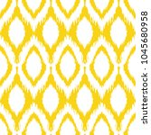 seamless ikat pattern in yellow ... | Shutterstock .eps vector #1045680958