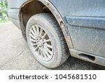 wing rusty  the car is... | Shutterstock . vector #1045681510
