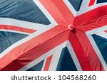 union flag of great britain printed on an umbrella - stock photo