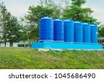water tank for use in... | Shutterstock . vector #1045686490
