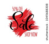 sale hand drawn lettering and... | Shutterstock .eps vector #1045688308