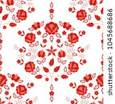 polish folk pattern vector... | Shutterstock .eps vector #1045688686