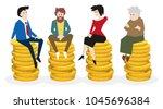 universal basic income ... | Shutterstock .eps vector #1045696384