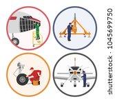repair and maintenance of... | Shutterstock .eps vector #1045699750