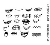 cartoon mouth icon | Shutterstock .eps vector #1045700194
