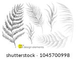universal trend dotty leaves... | Shutterstock .eps vector #1045700998