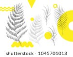 universal trend dotty leaves... | Shutterstock .eps vector #1045701013
