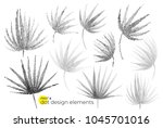 universal trend dotty leaves... | Shutterstock .eps vector #1045701016