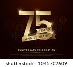 75th years anniversary... | Shutterstock .eps vector #1045702609