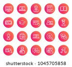 education line icons. set of... | Shutterstock .eps vector #1045705858