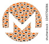 monero currency collage... | Shutterstock .eps vector #1045706086