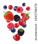 mix sweet berries  vector image ...   Shutterstock .eps vector #1045708270