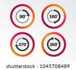 angle 45 360 degrees circle... | Shutterstock .eps vector #1045708489