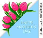 happy mothers day greeting card ... | Shutterstock . vector #1045708804