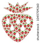strawberry collage composed in... | Shutterstock .eps vector #1045709260