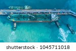 aerial view shot of crude oil... | Shutterstock . vector #1045711018