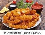 close up of delicious crispy... | Shutterstock . vector #1045713400