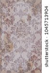baroque royal pattern fabric.... | Shutterstock .eps vector #1045713904