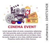 cinema event design with place... | Shutterstock .eps vector #1045715428