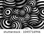 abstract striped spheres... | Shutterstock .eps vector #1045716946