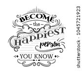 typography poster with hand... | Shutterstock .eps vector #1045721923