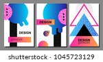 placard templates set with... | Shutterstock .eps vector #1045723129