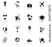 travel   vacation  icons set.... | Shutterstock .eps vector #104572874