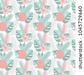 vector seamless pattern with... | Shutterstock .eps vector #1045729660