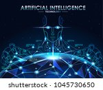 ai  artificial intelligence  ... | Shutterstock .eps vector #1045730650