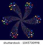attractive intellect gears... | Shutterstock .eps vector #1045730998