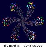 psychedelic gambling exploding...   Shutterstock .eps vector #1045731013