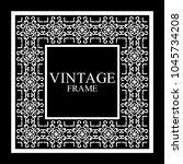 vintage white border frame with ... | Shutterstock .eps vector #1045734208