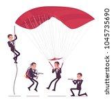 secret agent man  gentleman spy ... | Shutterstock .eps vector #1045735690