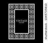 vintage  white border frame... | Shutterstock .eps vector #1045735810
