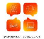 web camera  headphones and...   Shutterstock .eps vector #1045736776