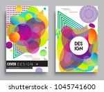 covers templates set with... | Shutterstock .eps vector #1045741600