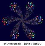 multi colored intellect bulb... | Shutterstock . vector #1045748590