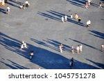 defocused image of people...   Shutterstock . vector #1045751278