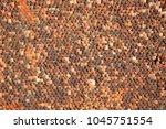 pattern of old tile roof....   Shutterstock . vector #1045751554