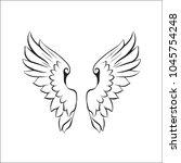 wings  illustration vector | Shutterstock .eps vector #1045754248