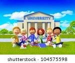 3d group of university students ... | Shutterstock . vector #104575598