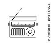old radio vector icon | Shutterstock .eps vector #1045757026