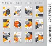 mega pack design template flyer ... | Shutterstock .eps vector #1045758214
